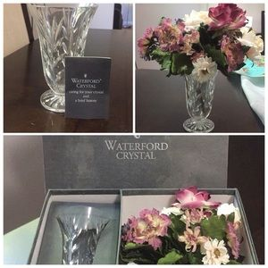 🌺🌸Waterford Crystal Vase and Flowers🌸🌺